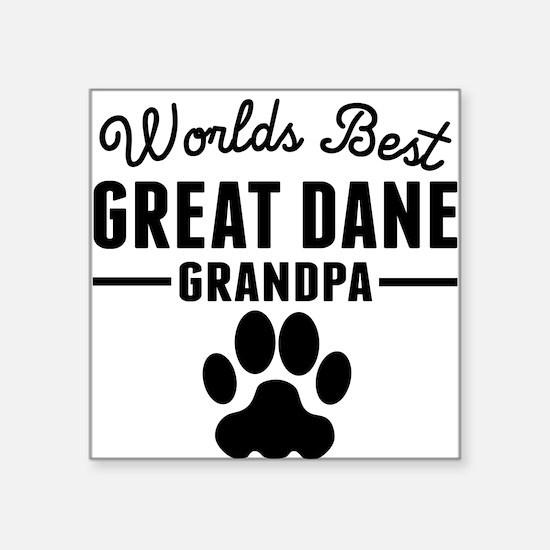 Worlds Best Great Dane Grandpa Sticker