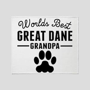 Worlds Best Great Dane Grandpa Throw Blanket