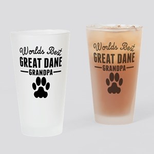 Worlds Best Great Dane Grandpa Drinking Glass
