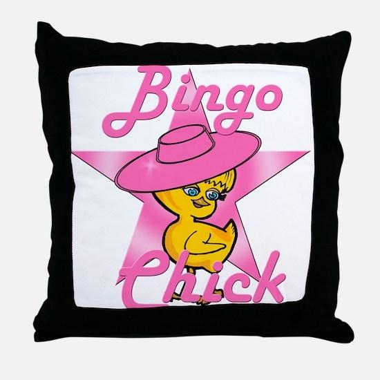 Bingo Chick #8 Throw Pillow