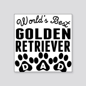 Worlds Best Golden Retriever Dad Sticker