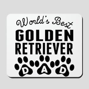 Worlds Best Golden Retriever Dad Mousepad