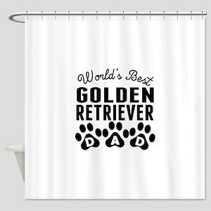 Worlds Best Golden Retriever Dad Shower Curtain