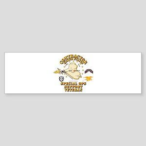 Contractor - Special Ops Spt Vet Sticker (Bumper)