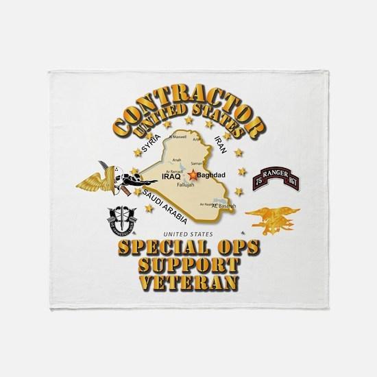 Contractor - Special Ops Spt Vet - Throw Blanket