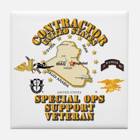 Contractor - Special Ops Spt Vet - I Tile Coaster