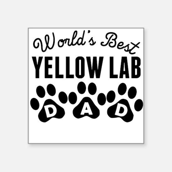 Worlds Best Yellow Lab Dad Sticker
