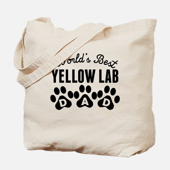 Worlds Best Yellow Lab Dad Tote Bag