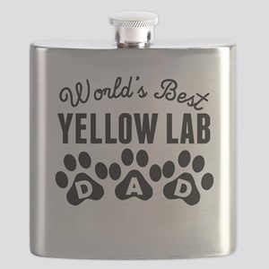 Worlds Best Yellow Lab Dad Flask