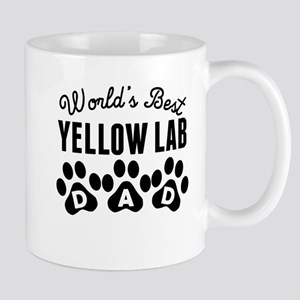 Worlds Best Yellow Lab Dad Mugs