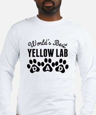 Worlds Best Yellow Lab Dad Long Sleeve T-Shirt