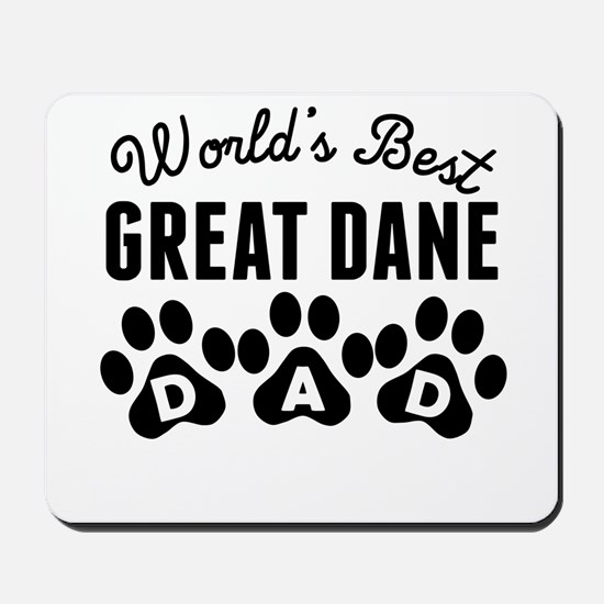 Worlds Best Great Dane Dad Mousepad