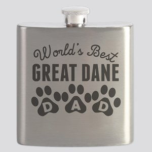Worlds Best Great Dane Dad Flask