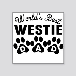 Worlds Best Westie Dad Sticker
