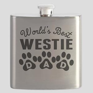Worlds Best Westie Dad Flask