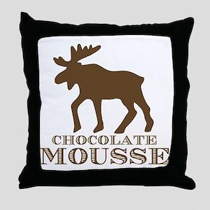 Chocolate Mousse Throw Pillow