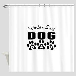 Worlds Best Dog Dad Shower Curtain