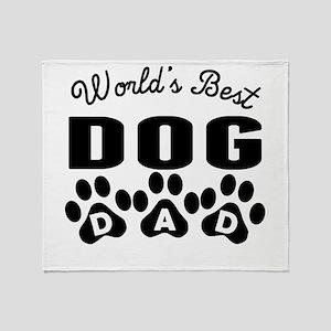 Worlds Best Dog Dad Throw Blanket