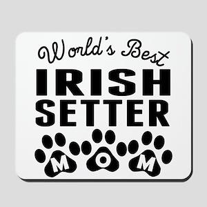 Worlds Best Irish Setter Mom Mousepad