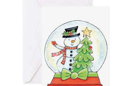 Christmas Snowglobe Greeting Cards