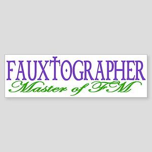 FAUXTOGRAPHER Bumper Sticker