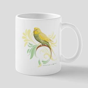 Pastel Green Parakeet Mugs