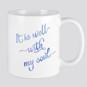 It is well with my soul (blue). Mugs