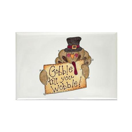 Gobble Wobble Rectangle Magnet (100 pack)