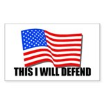 This I WILL DEFEND Sticker (Rectangle)