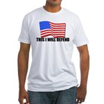 This I WILL DEFEND Fitted T-Shirt