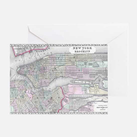 City map Greeting Card