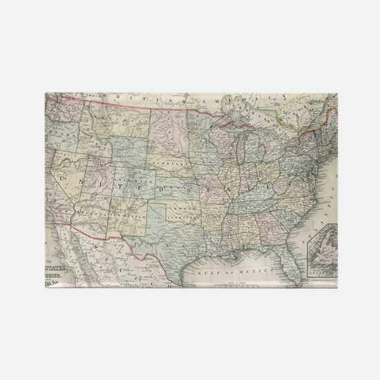Cool Us map Rectangle Magnet