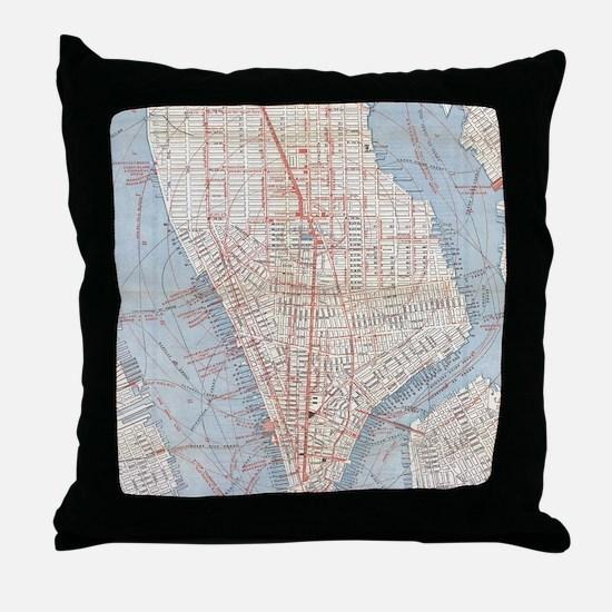 Funny Manhattan Throw Pillow