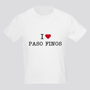 I Heart Paso Finos Kids T-Shirt