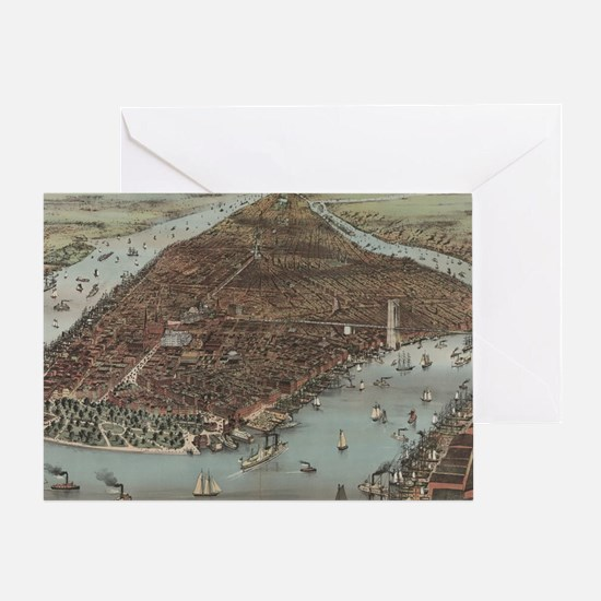 Cute Map vatican city Greeting Card