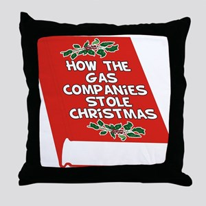 Gas Companies Throw Pillow
