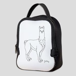 Llama Neoprene Lunch Bag