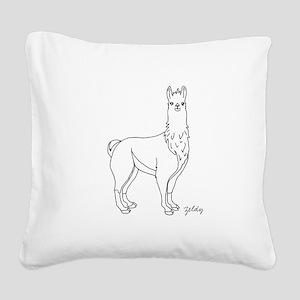 Llama Square Canvas Pillow