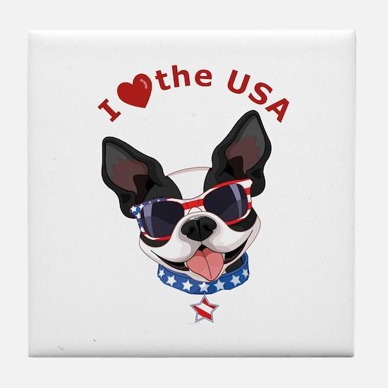 Love for the USA - Tile Coaster
