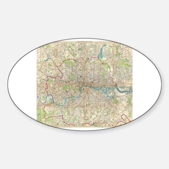 Cute I heart london Sticker (Oval)