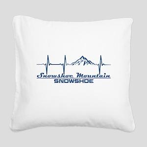 Snowshoe Mountain - Snowsho Square Canvas Pillow