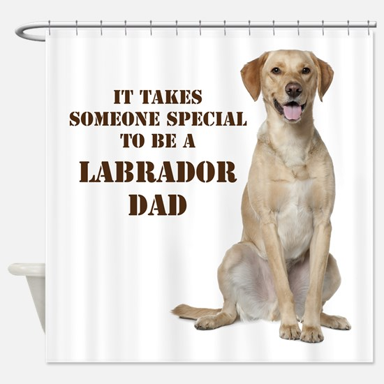 Yellow Lab Dad Shower Curtain