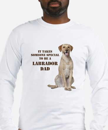Yellow Lab Dad Long Sleeve T-Shirt