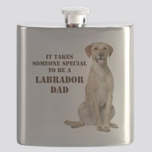 Yellow Lab Dad Flask