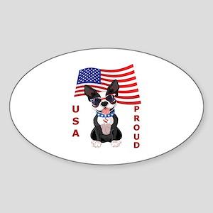USA Proud - Sticker (Oval)