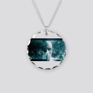 Medical Science Fu Necklace Circle Charm