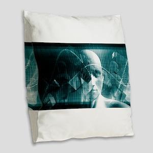 Medical Science Fu Burlap Throw Pillow