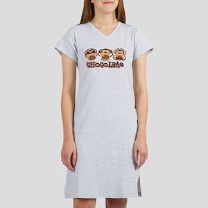 Monkey See Chocolate Women's Nightshirt