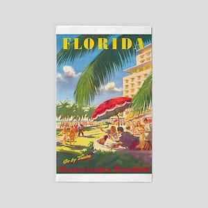 Florida Vintage Travel Poster Area Rug