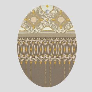 Art Nouveau Pattern Oval Ornament